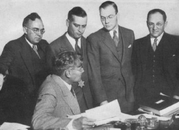 f5c598f714b The team of prosecution lawyers that convicted Al Capone (U.S. Attorney  George E. Q. Johnson is seated)