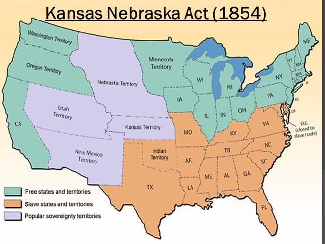 free states and slave states map