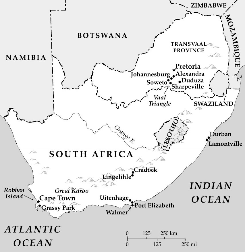 The Trial of Nelson Mandela Selected Maps South Africa