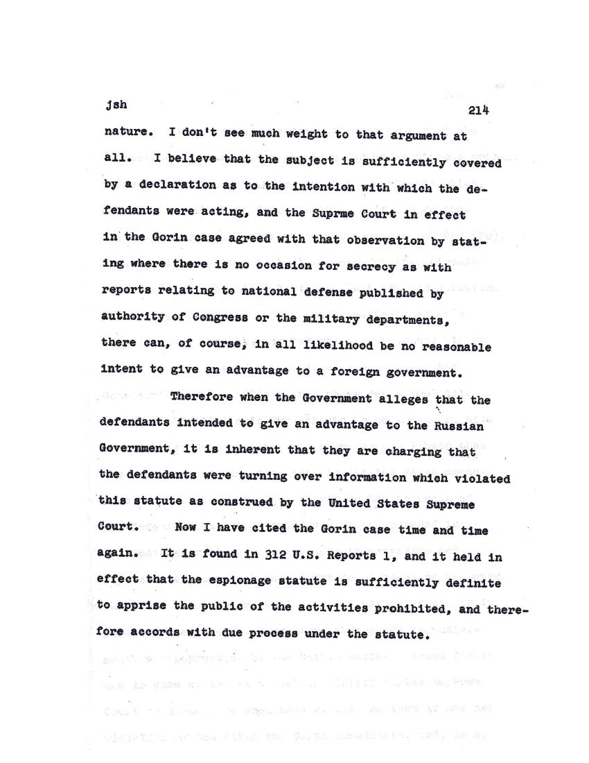 rosenberg trial transcript
