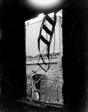 MANGLED FIRE ESCAPE AT THE TRIANGLE SHIRTWAIST FACTORY